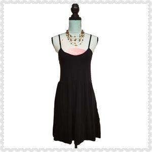 5 More Minutes Spaghetti Fit & Flare Black Dress L
